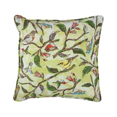 bird song 20 square pillow cover kolorful kitchen